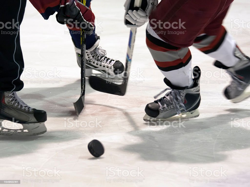 Close-up of an Ice Hockey match royalty-free stock photo