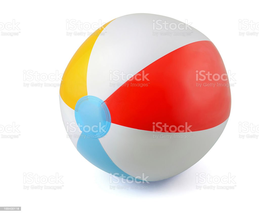 Close-up of an isolated beach ball stock photo