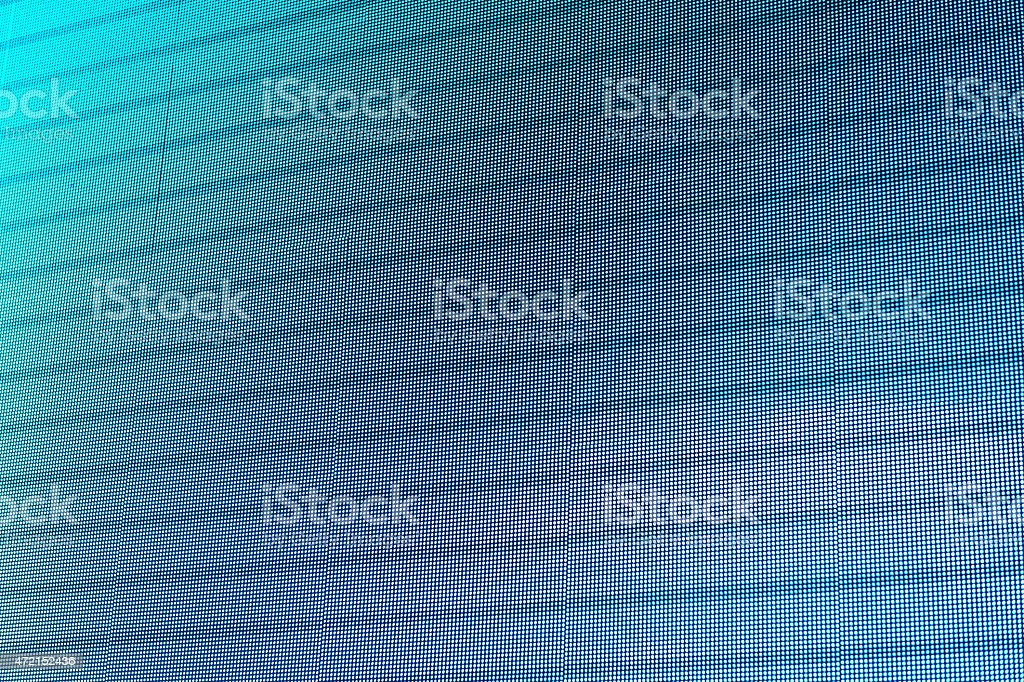Close-up of an LED electronic screen with horizontal lines stock photo
