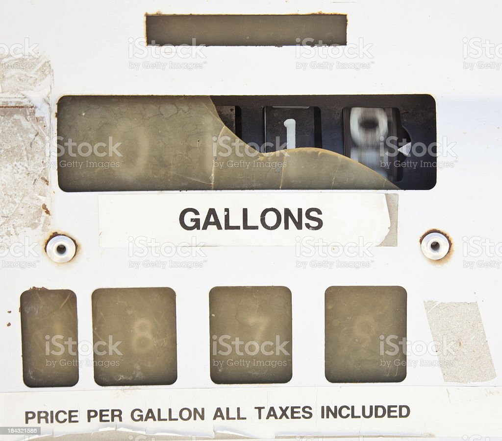 closeup of an old fuel pump. royalty-free stock photo