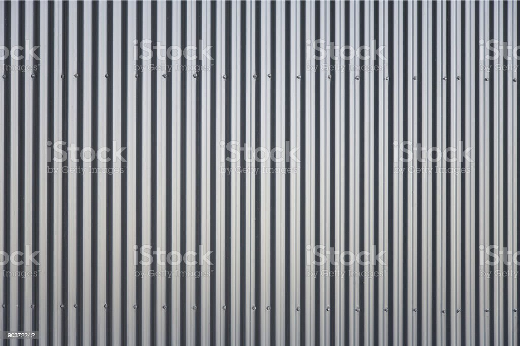 Close-up of an striped aluminum background stock photo