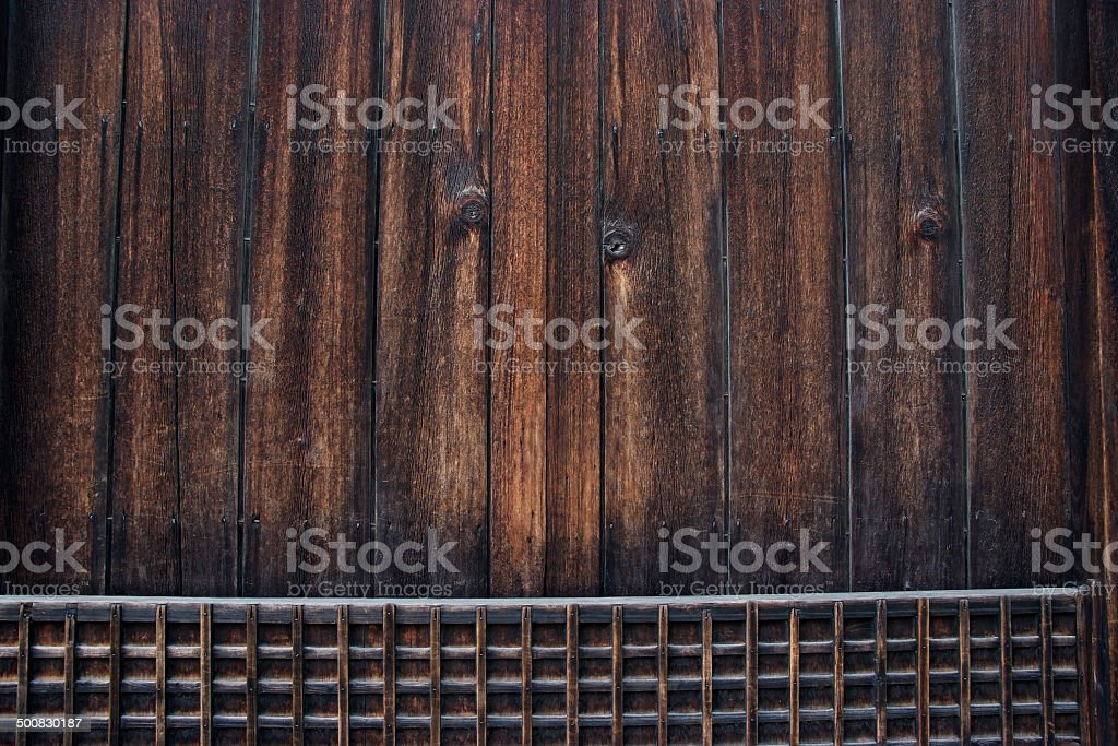 Close-up of ancient wooden door texture royalty-free stock photo