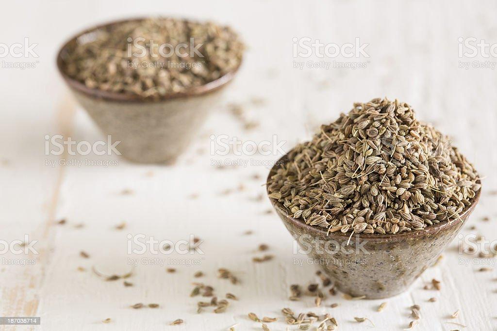 Closeup of anis seeds royalty-free stock photo