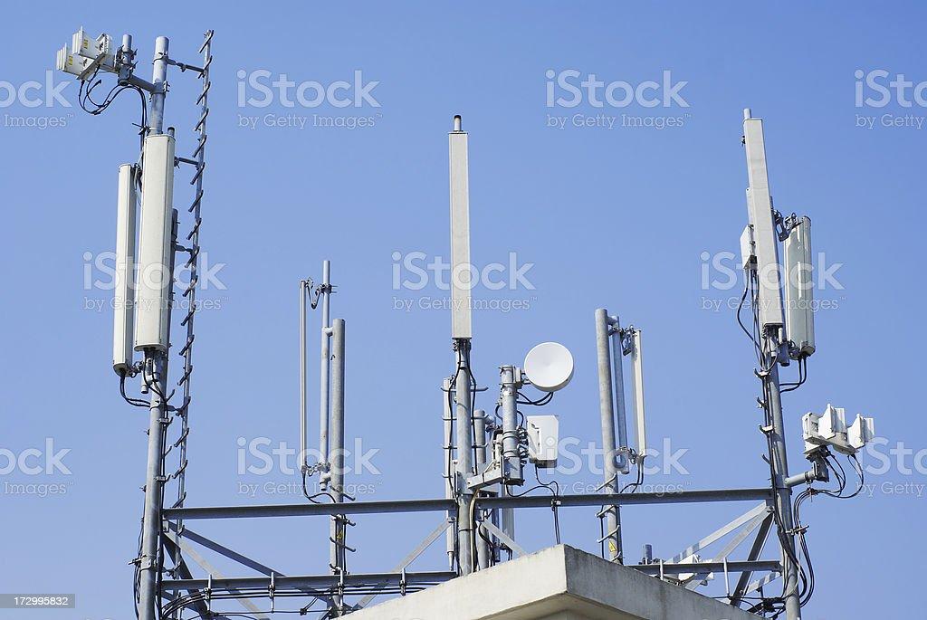 Closeup of antennas stock photo