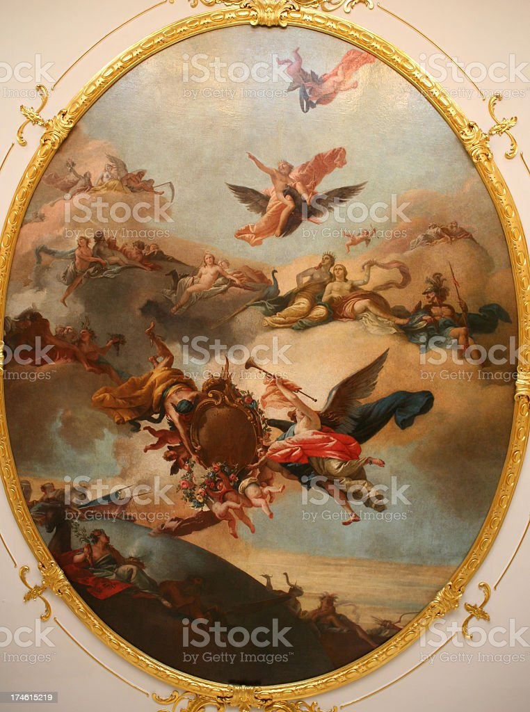Close-up of art in Kathrrines Palace, Pushkin, Russia stock photo