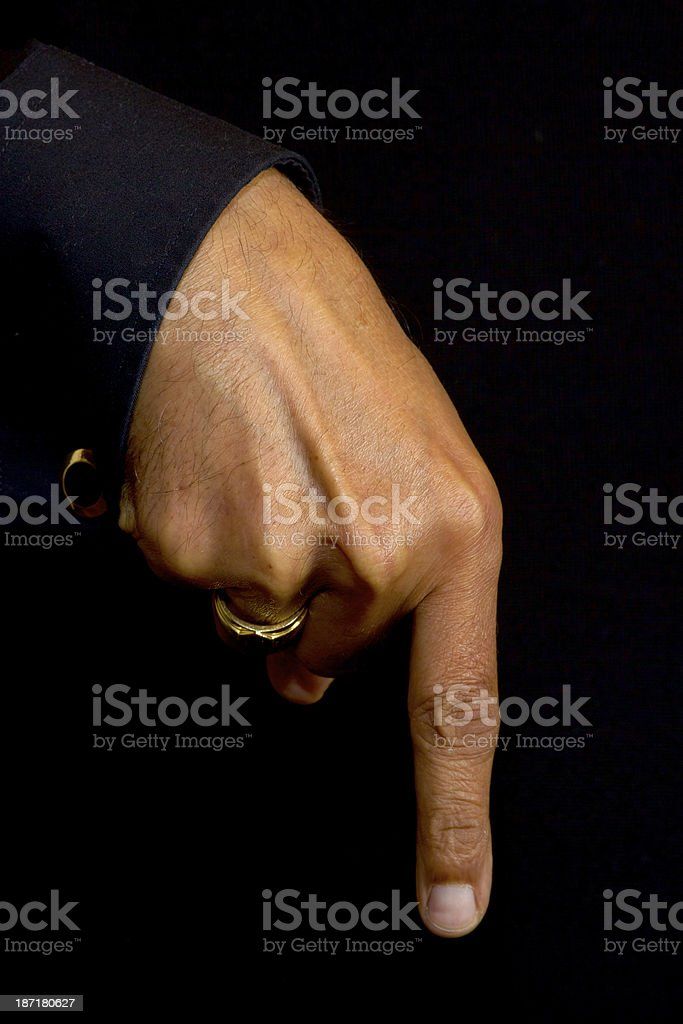 Gesture - Right here royalty-free stock photo