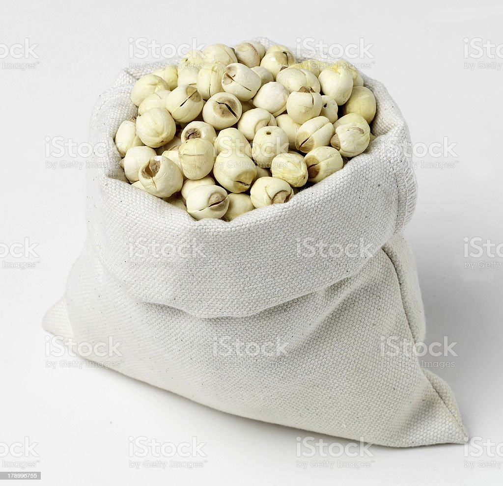 Close-up of assorted cereals in paper bags. royalty-free stock photo