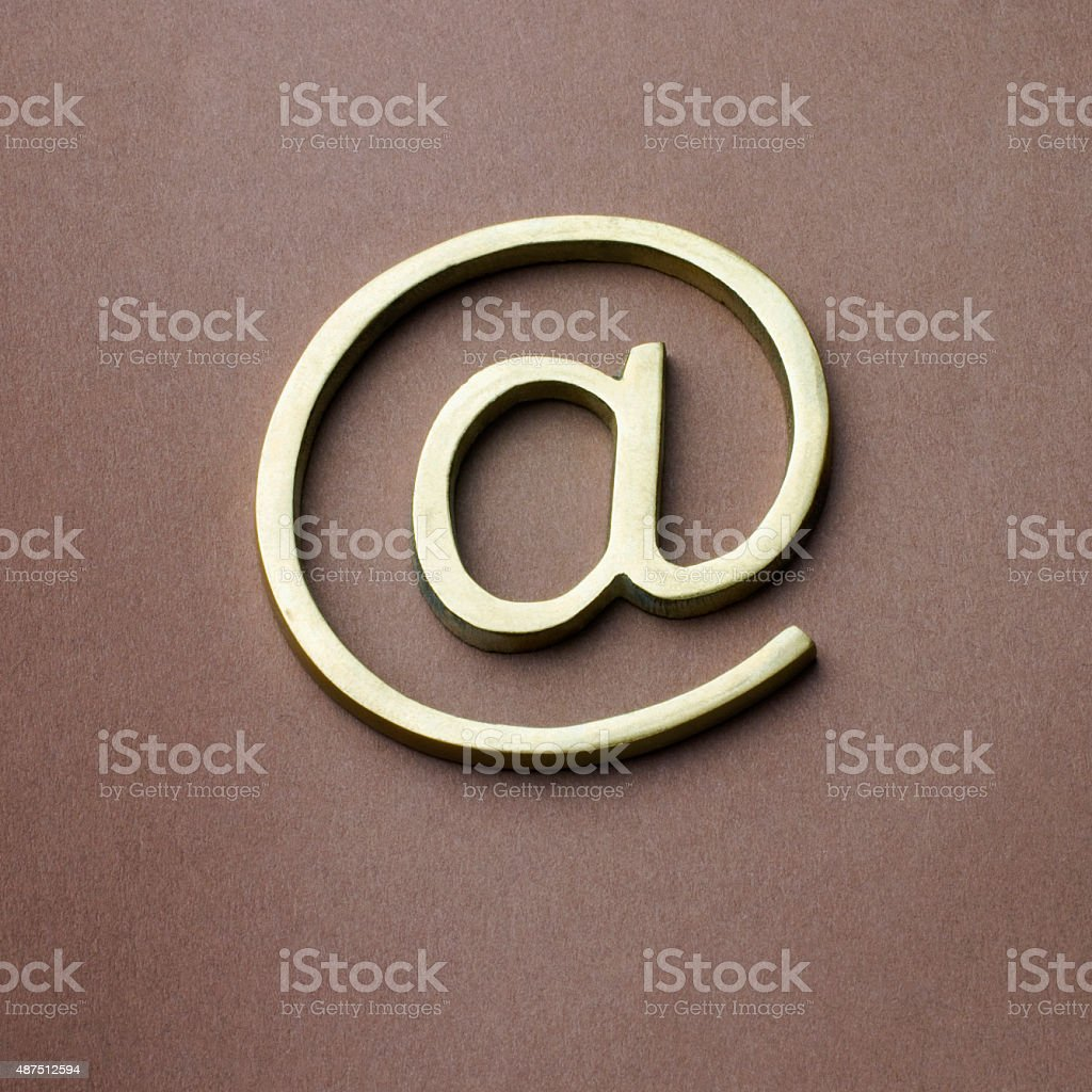 Close-up of at symbol stock photo