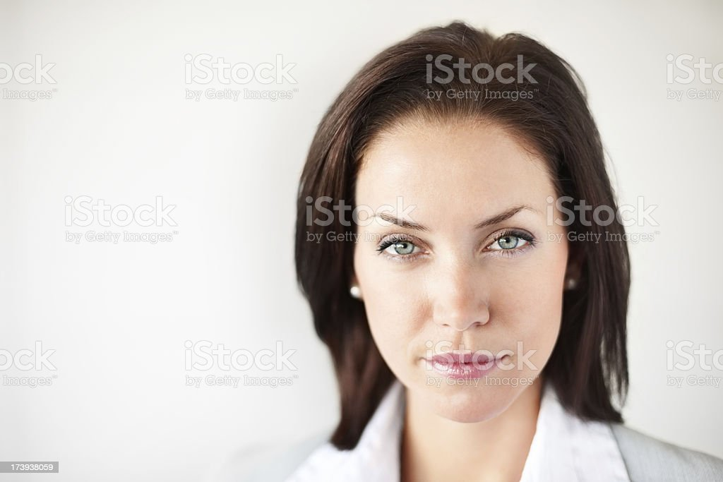 Close-up of attractive businesswoman royalty-free stock photo