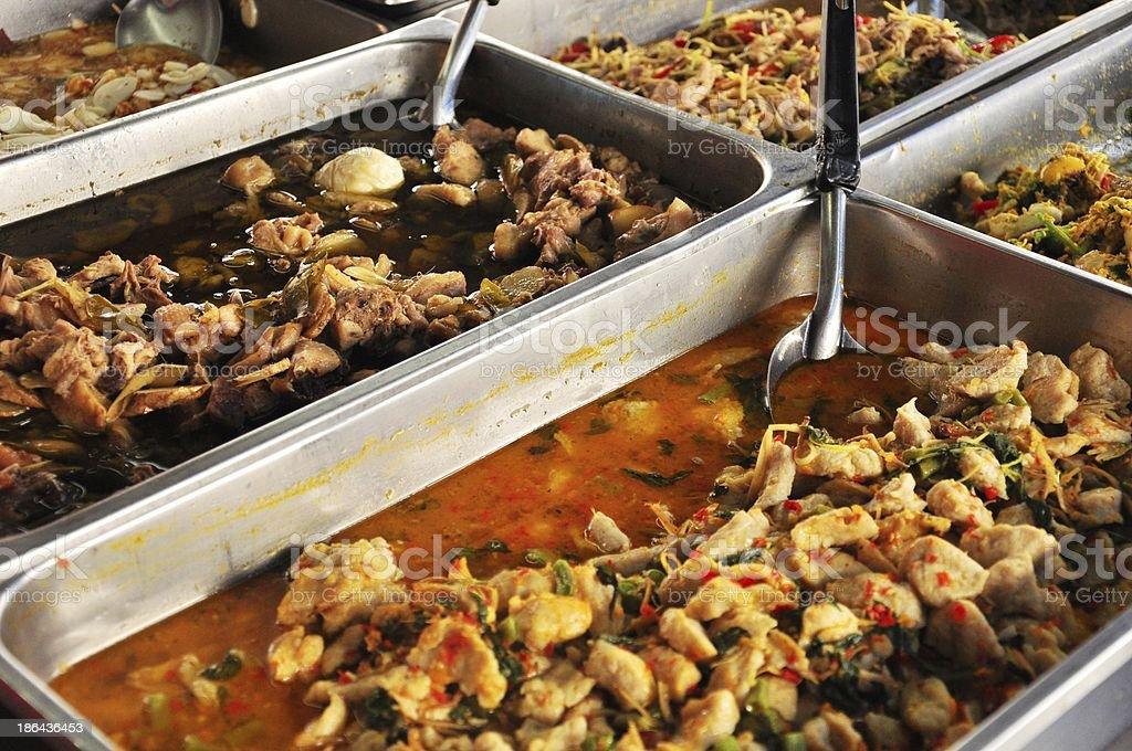 closeup of Authentic Thai Street Cuisine royalty-free stock photo