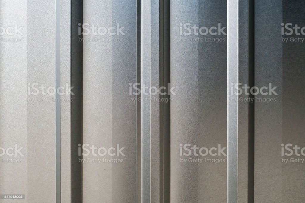 Closeup of background Detail of texture of aluminium wall stock photo