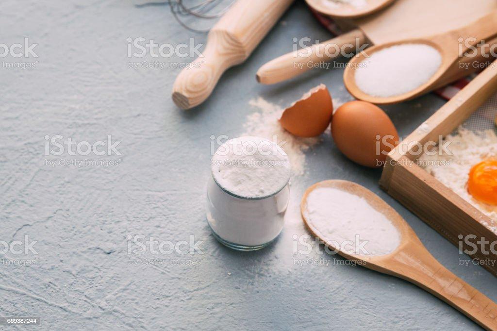 Close-up of baking soda stock photo