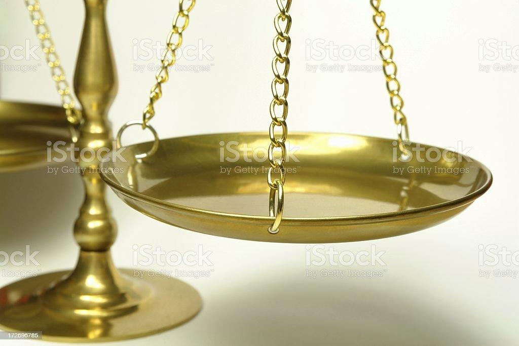 Closeup Of Balance Scale royalty-free stock photo