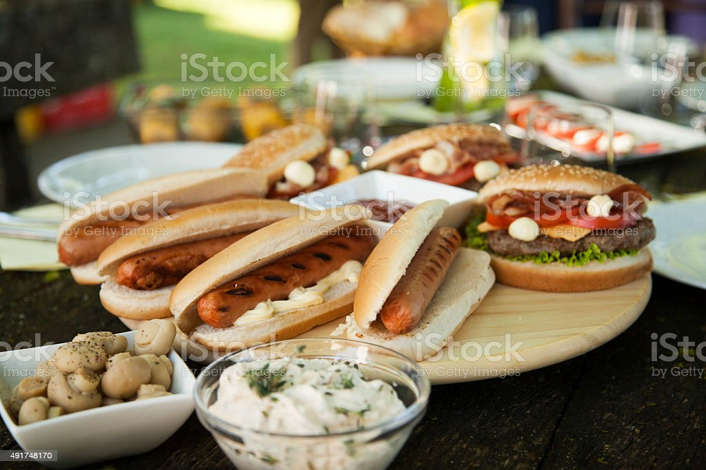 Close-up of barbecue food stock photo