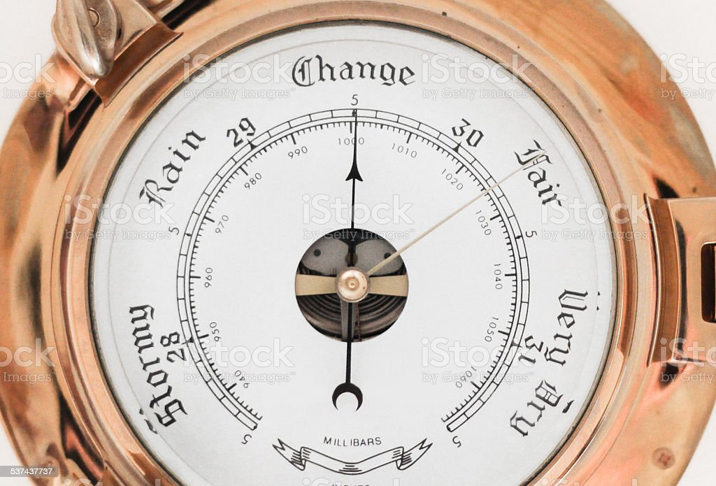 Close-up of Barometer stock photo