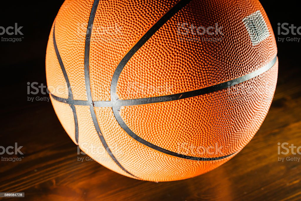 Close-up of basketball stock photo
