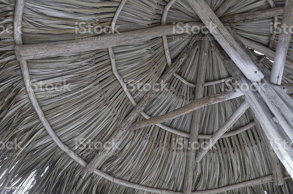 Closeup of Beach Cabana Construction royalty-free stock photo