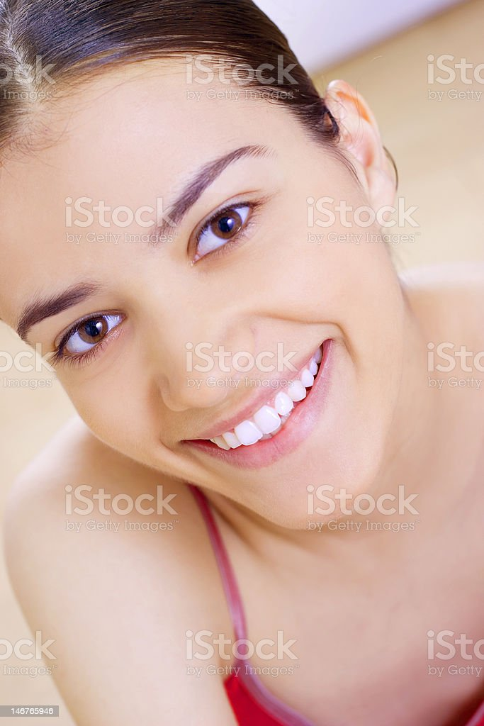 close-up of beautiful soft face royalty-free stock photo