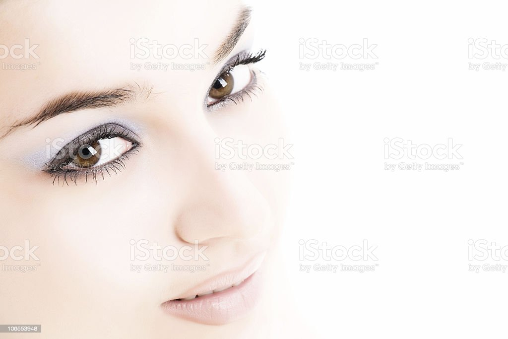 Close-up of beautiful woman face royalty-free stock photo