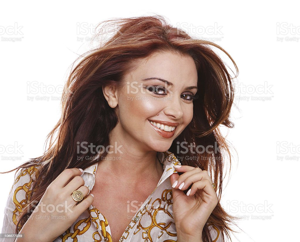 Close-up of Beautiful woman smiling royalty-free stock photo