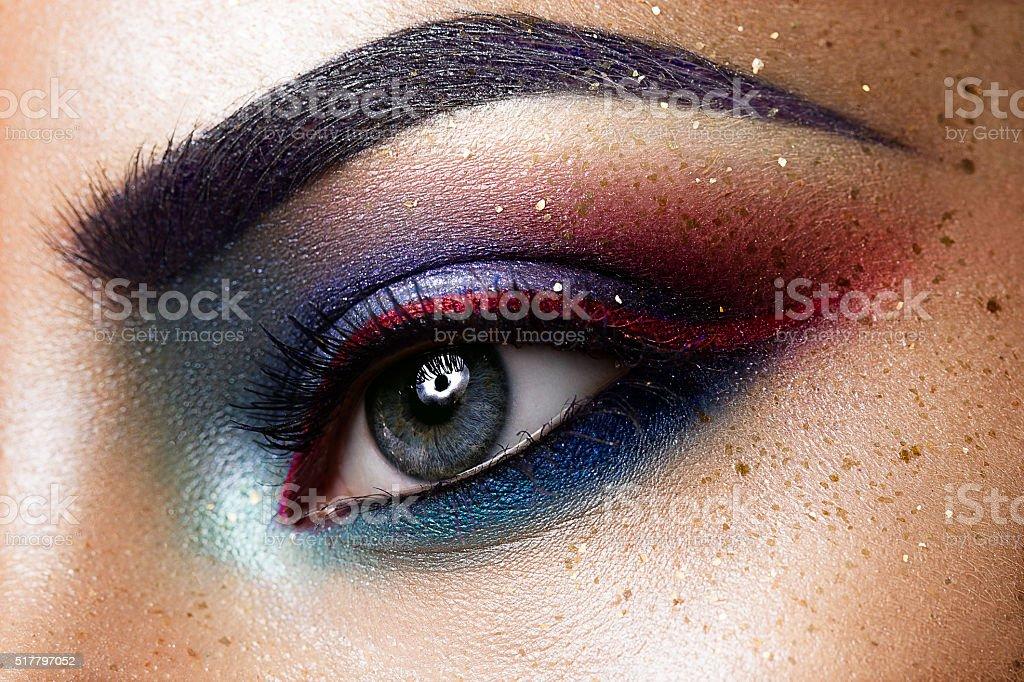 Close-up of beautiful womanish eye stock photo