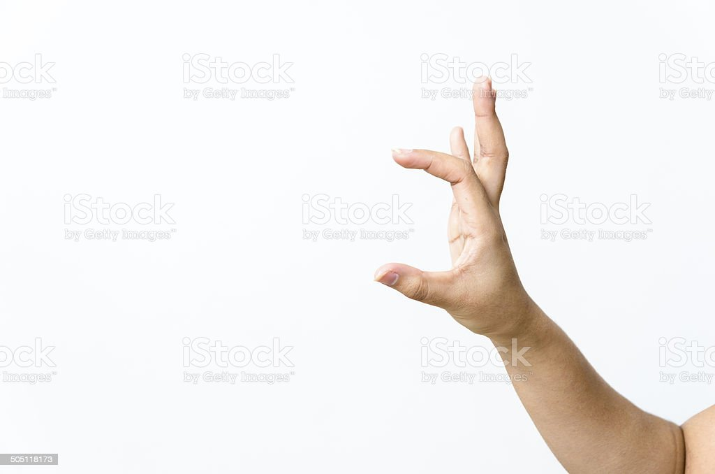 Close-up of beautiful woman's hand, palm up. stock photo