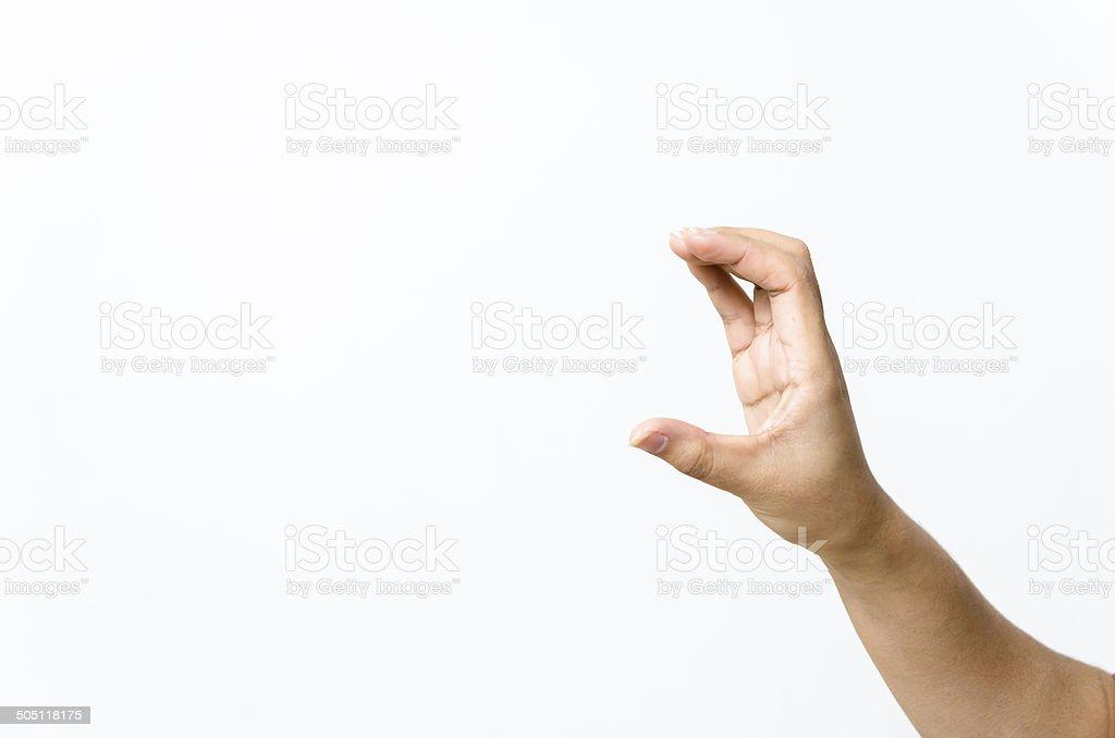 Close-up of beautiful woman's hand, palm up. stock photo