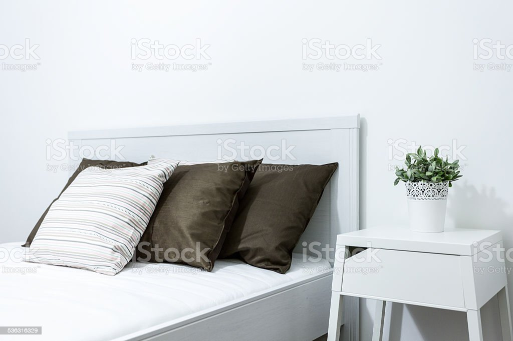 Close-up of bed stock photo