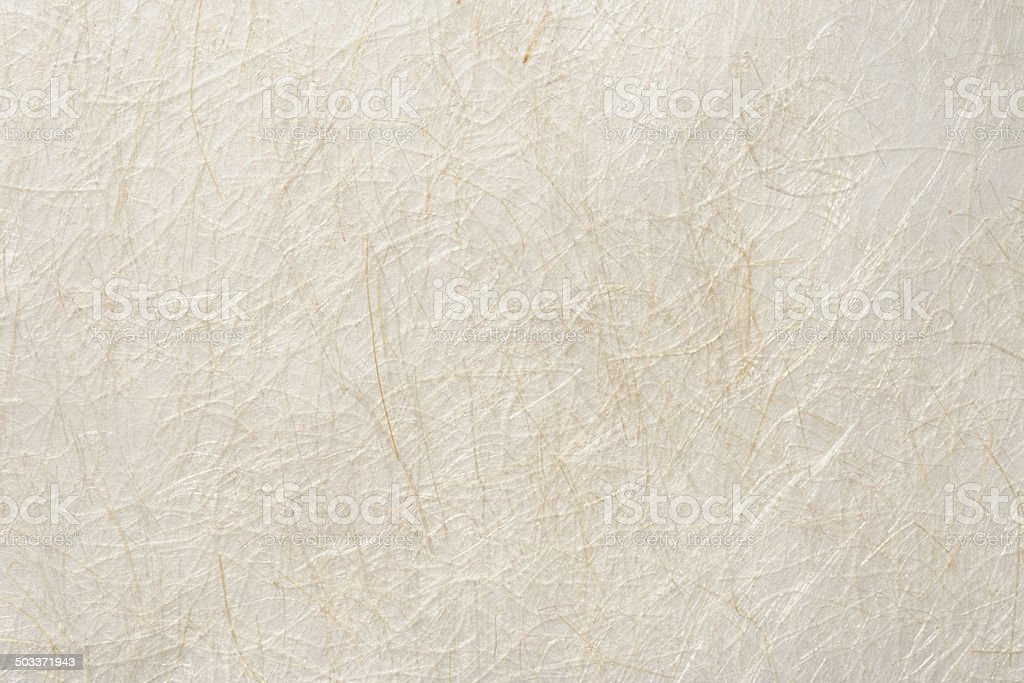 Close-up of beige rice paper texture background stock photo