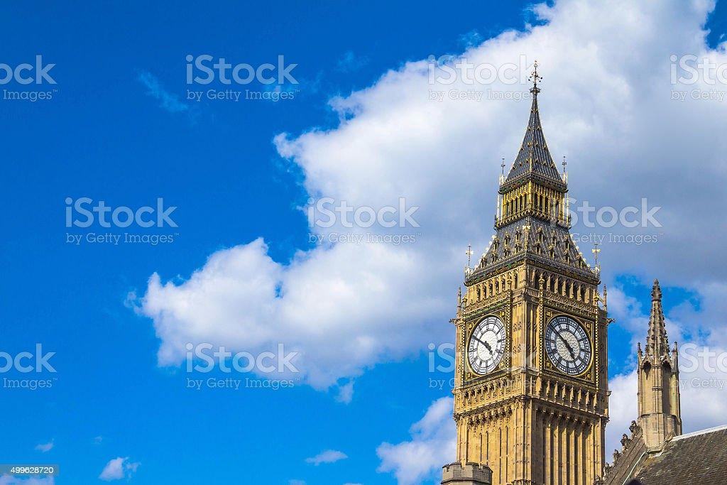 Close-up of  Big Ben face  London stock photo