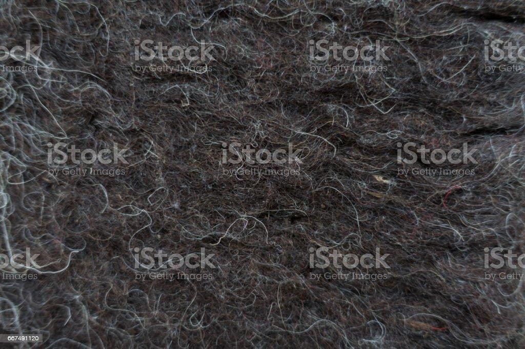 Close-up of black handmade woollen felt blanket stock photo