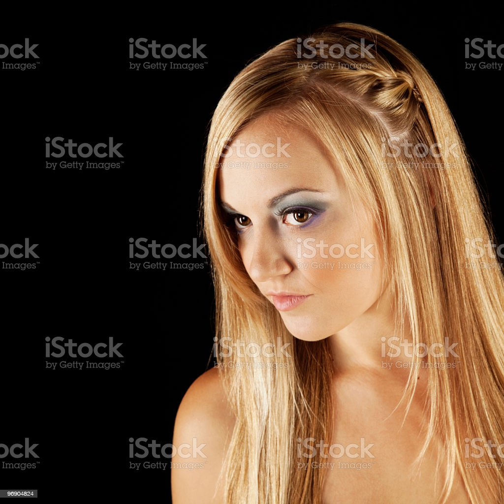 Close-up of Blonde Female Model royalty-free stock photo