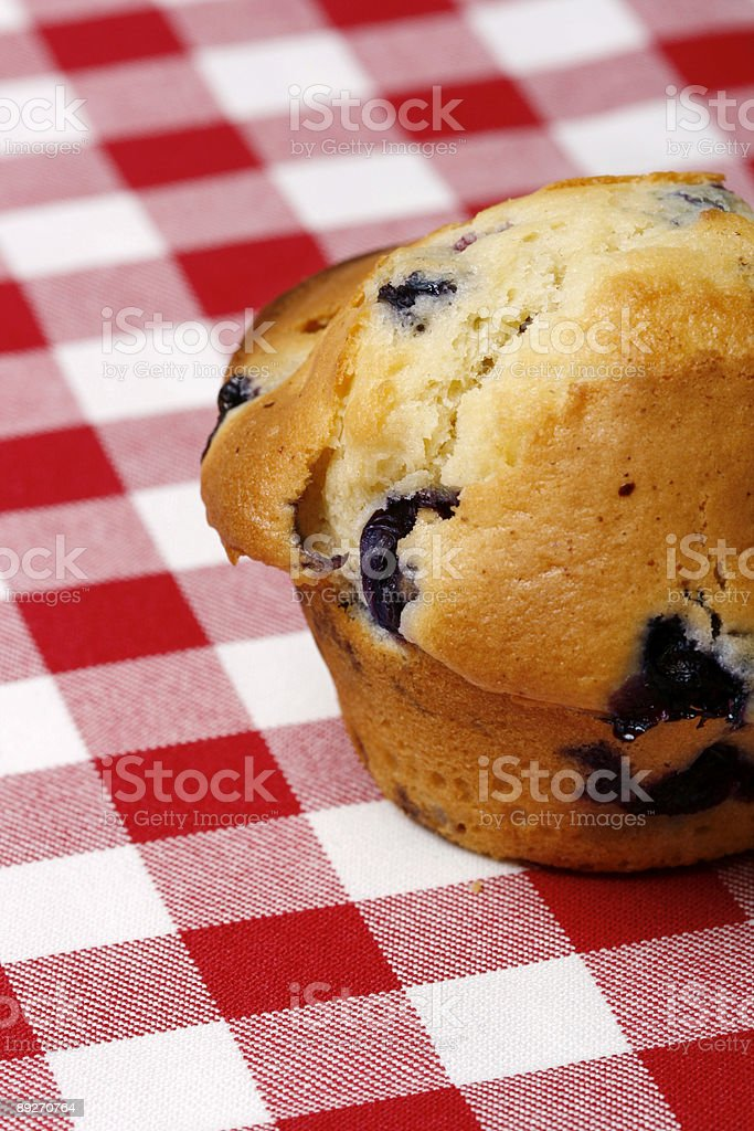 Close-up of blueberry muffin royalty-free stock photo