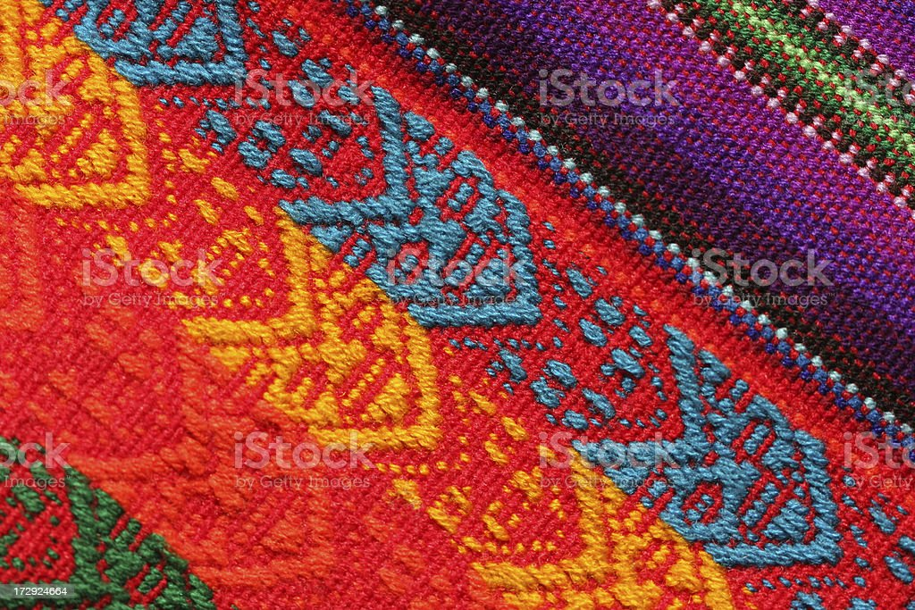 Close-up of Bolivian Textile royalty-free stock photo