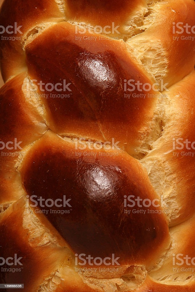 Close-up of braided sweet bread. royalty-free stock photo