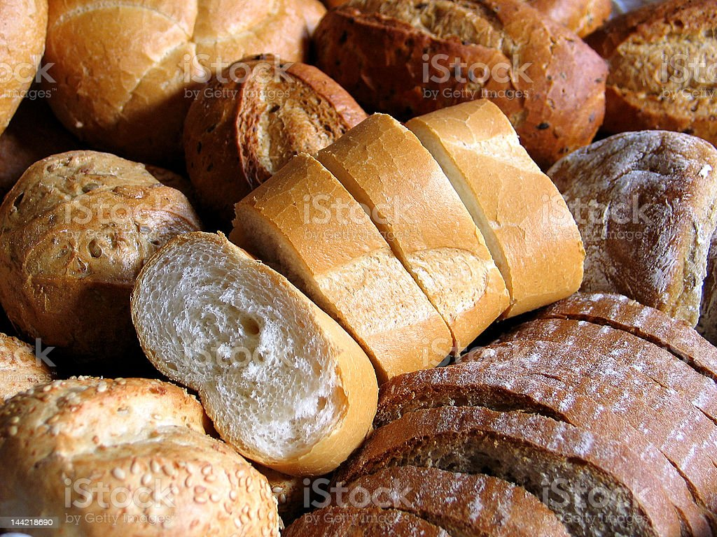 Close-up of Bread royalty-free stock photo