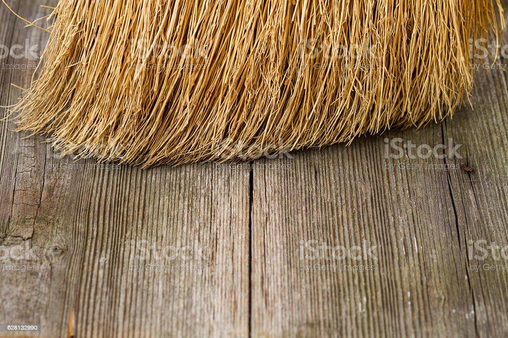 closeup of broom stock photo