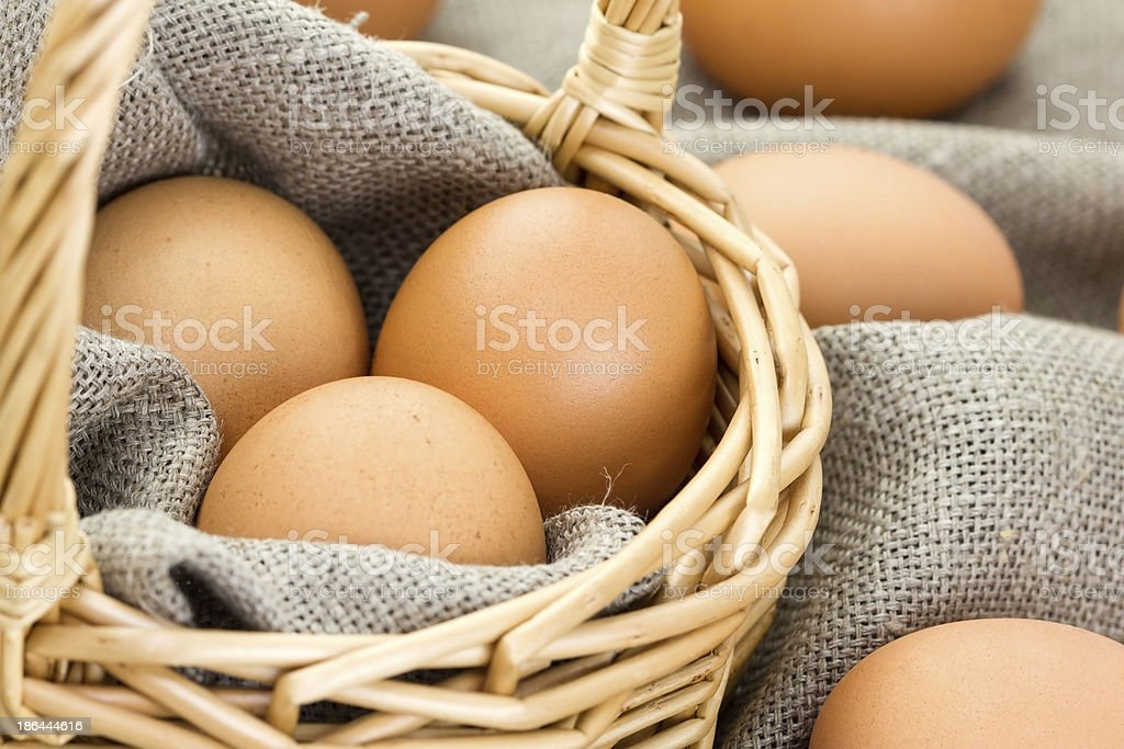 Close-up of brown eggs royalty-free stock photo