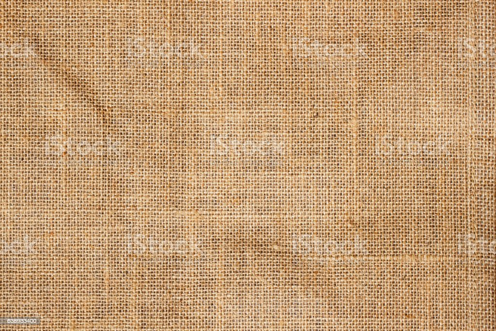 Closeup of brown Natural sackcloth texture for background stock photo