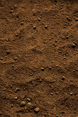 Close-up of brown soil background.