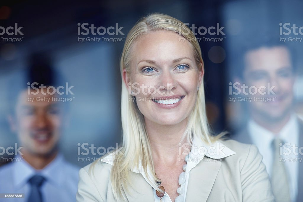Closeup of business woman royalty-free stock photo