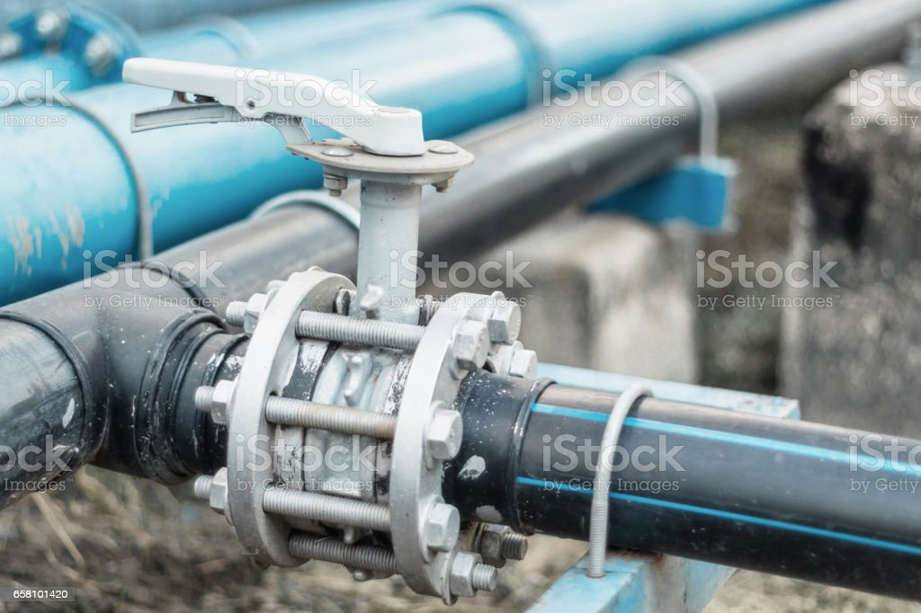 Close-up of Butterfly valve stock photo