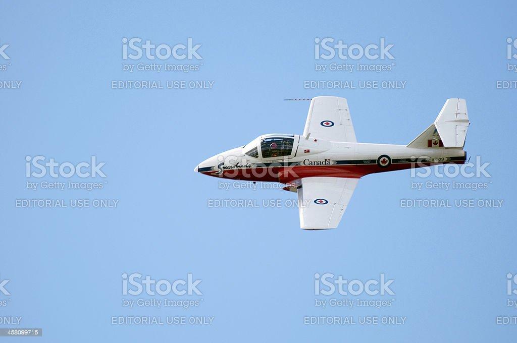 Closeup of Canadian Snowbird Plane stock photo