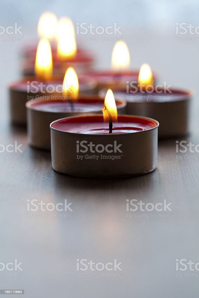 Close-up of candles royalty-free stock photo