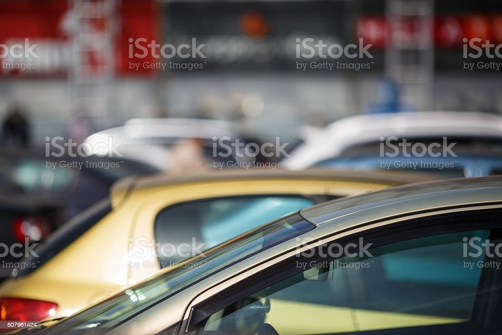 Close-up of cars stock photo