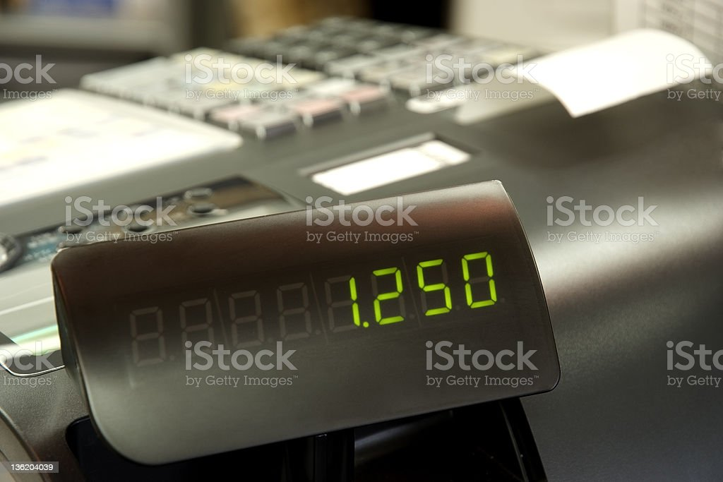 Close-up of Cash Register royalty-free stock photo