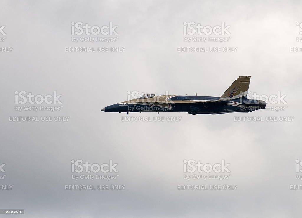 Closeup of CF-18 Pilot stock photo