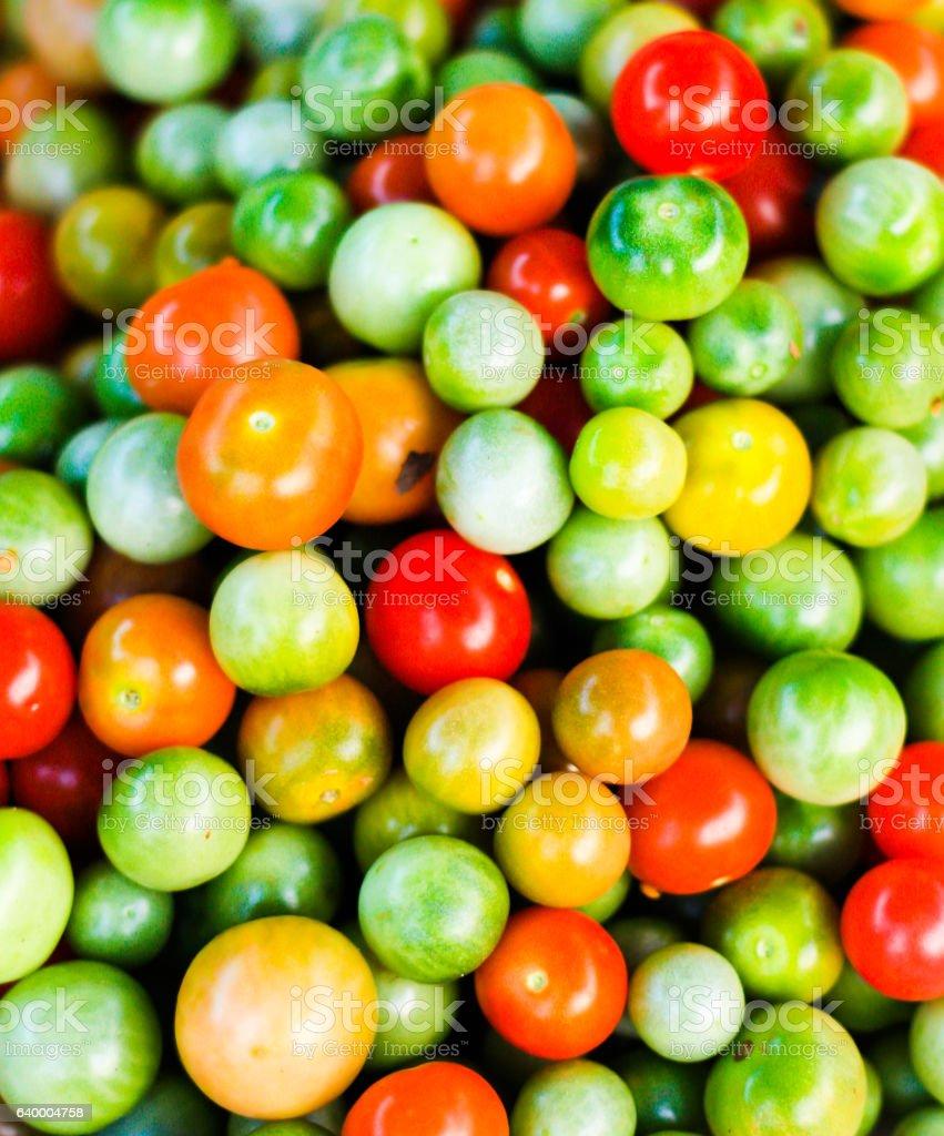 Closeup of Cherry Tomatoes stock photo