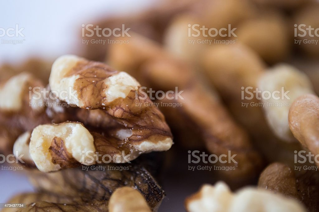 Close-up of Chopped Walnuts royalty-free stock photo