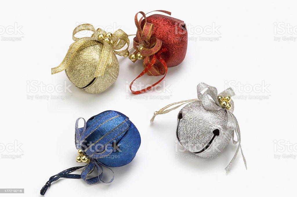 Close-up of Christmas bells royalty-free stock photo